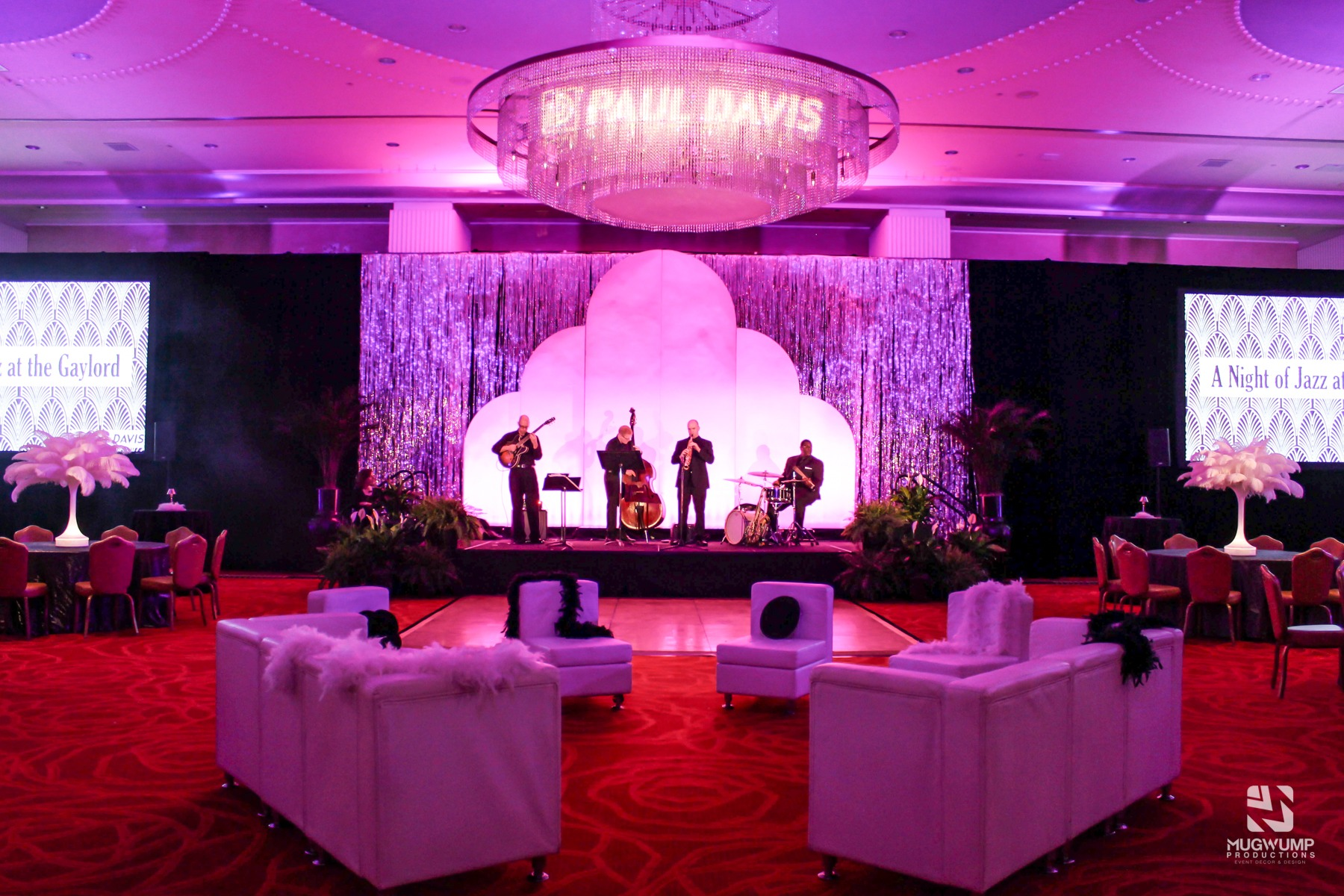 Event with live band and event rentals