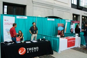 Teal Trade Show Pipe and Drape