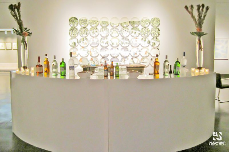 White Curved Bar Event Rental