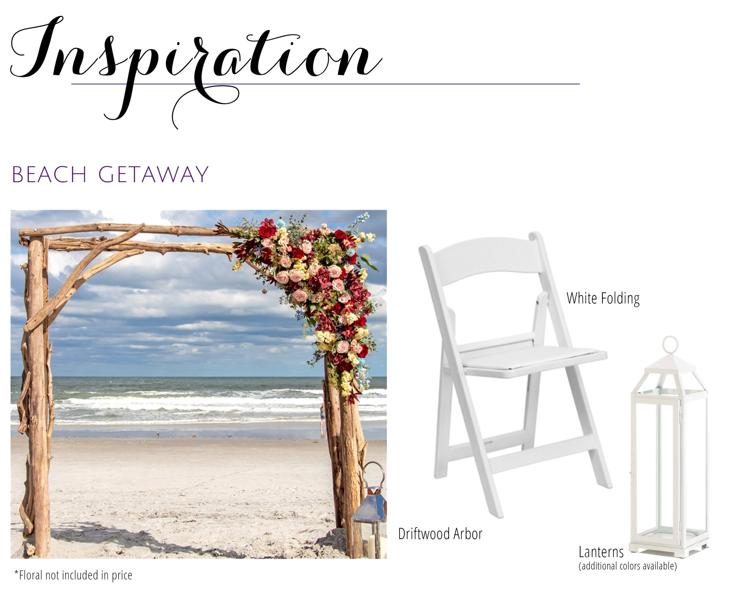 Beach Getaway Wedding Decor