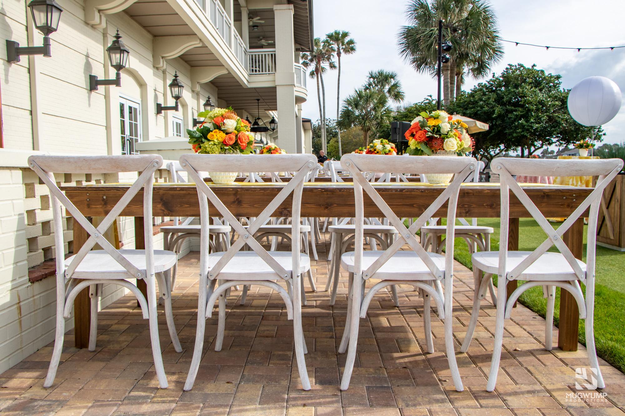 White Crossback Chair Rental