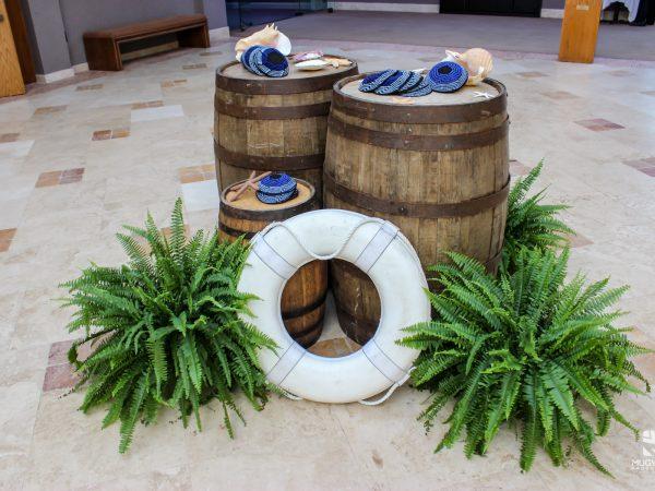 Beach themed event decor rentals