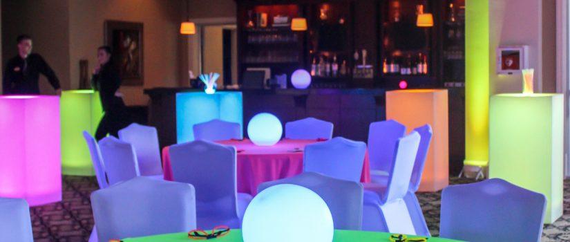 Neon bright table decor