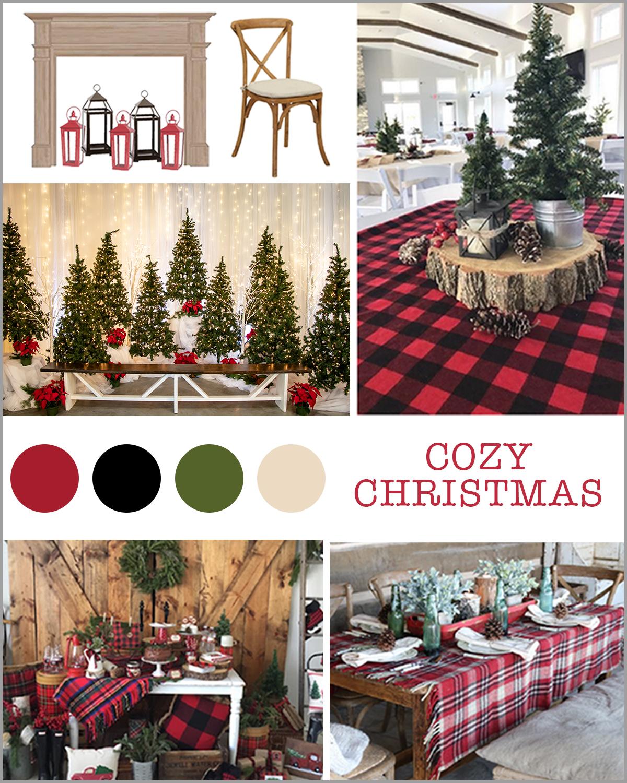 Rustic Christmas theme party decor