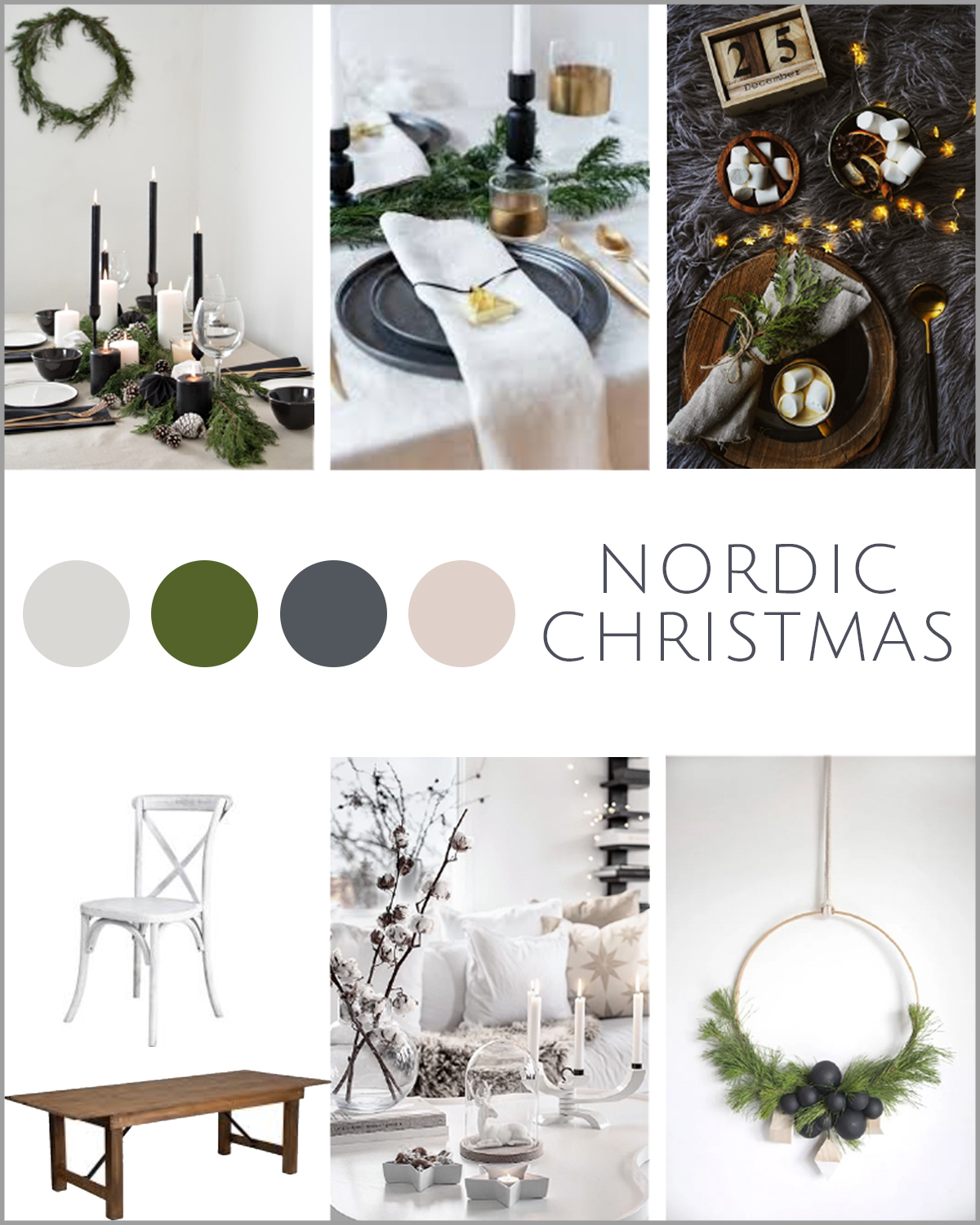 Outdoorsy Christmas themed party ideas